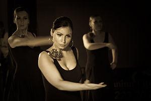 posición en el baile flamenco.
