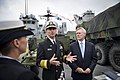 Flickr - Official U.S. Navy Imagery - The CNO and SECNAV speak to Irish media..jpg