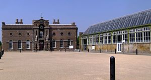 Greenwich Heritage Centre - Artillery Square with the Old Royal Military Academy and Greenwich Heritage Centre