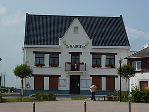 Flines-lès-Mortagne - Image: Flines lès Mortagne (Nord, Fr) mairie