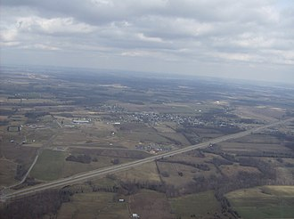 Seaman, Ohio - Image: Flying over Seaman from the south
