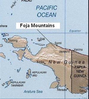 Foja Mountains - The Foja Mountains west of the port city of Jayapura, the capital of Papua province.