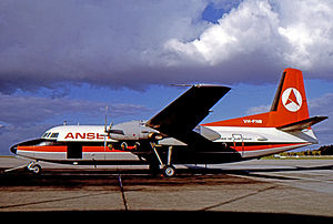 Essendon Airport - Fokker F27 Friendship of Ansett Airlines at Essendon Airport in 1970