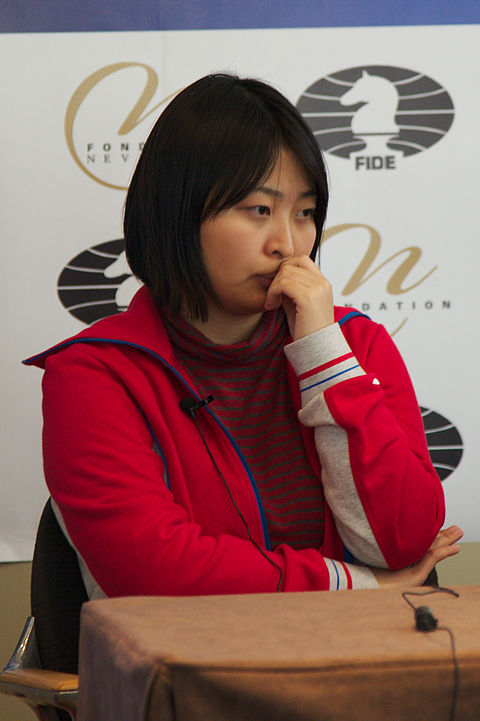 Current Women's World Chess Champion Ju Wenjun from China Fondation Neva Women's Grand Prix Geneva 11-05-2013 - Ju Wenjun during the press conference.jpg