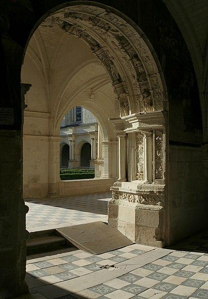 Chapter house door of Fontevraud abbey.