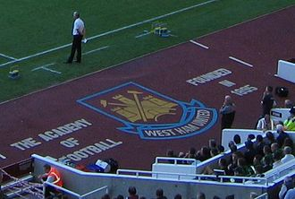 """West Ham United F.C. Under-23s and Academy - """"Academy of Football"""" livery at Upton Park"""
