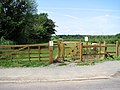 Footpath gate into a sheep pasture - geograph.org.uk - 1355615.jpg