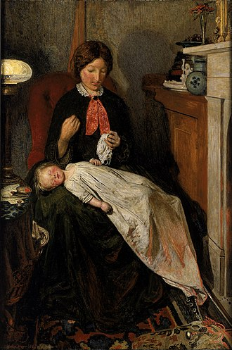 Catherine Madox Brown - Image: Ford Madox Brown Waiting an English fireside of 1854 55 Google Art Project