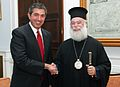 Foreign Minister Lambrinidis meets with Patriarch of Alexandria Theodoros II.jpg