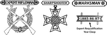 Antiguas insignias de puntería con rifle del USMC.png
