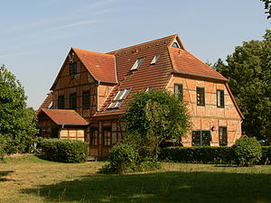 Rostock Heath - Wiethagen Forester's Lodge (Forsthaus), head office of the Rostock City Forestry Office