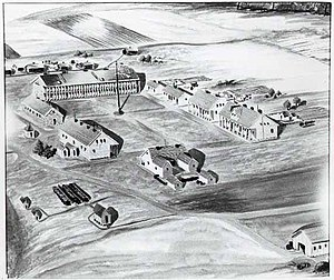 Fort Ridgely - Fort Ridgely in 1862
