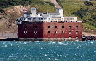 Fort Albert - The fort as seen from Hurst Castle