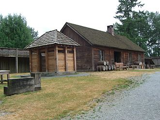 Langley, British Columbia (district municipality) - Inside the 1839 fort at Fort Langley National Historic Site