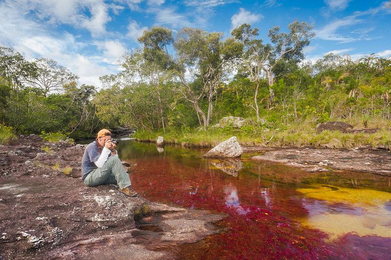 File:Fotógrafo en el Río Caño Cristales Colombia.jpg