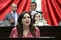 Fotografía en tribuna de la política mexicana Cynthia López Castro.jpg