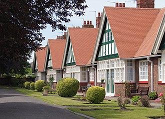 Norton, County Durham - Image: Fox almshouses, Norton village, County Durham