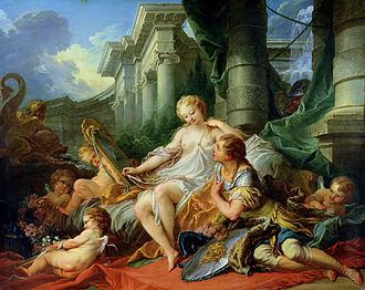 École nationale supérieure des Beaux-Arts - Rinaldo and Armida, François Boucher's morceau de réception, gained his admission to the Académie royale in 1734.