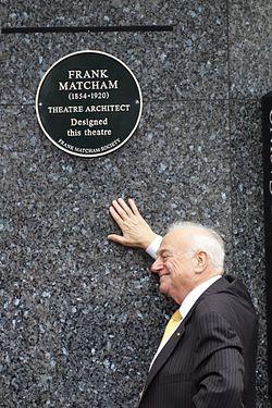Frank matcham plaque cranbourne street
