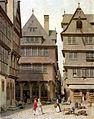 Frankfurt Am Main-Carl Theodor Reiffenstein-FFMU1850-149-Huehnermarkt Haus Tante Melber.jpg