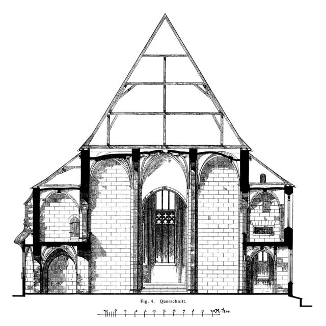 Frankfurt Am Main-Leonhardskirche-Querschnitt