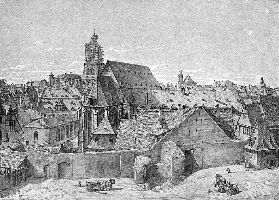 Frankfurt Am Main-Peter Becker-BAAF-032-Aussicht vom Steinernen Haus in der Judengasse nach Westen-1872