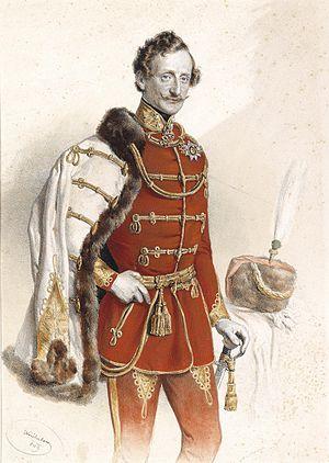 Prince Franz de Paula of Liechtenstein - Lithographie by Josef Kriehuber, 1849