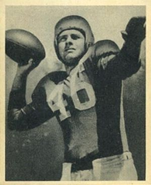 Fred Enke (American football) - Enke on a 1948 Bowman football card
