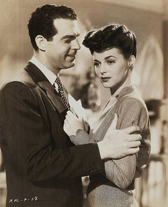 Pardon My Past - Fred MacMurray as Eddy York and Marguerite Chapman as Joan