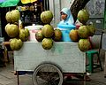Fresh coconut seller in Old Town Jakarta; Prayitno; February 2013.jpg