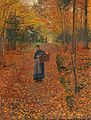 Friedrich Kallmorgen Holzsammlerin im Herbstwald 1893.jpg