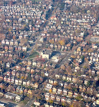 Friendship (Pittsburgh) - Image: Friendshiphouses Aerial 1