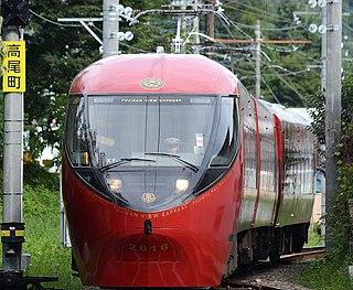 railway line in Yamanashi prefecture, Japan