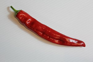 Hungarian wax pepper - Image: Fully Ripe Hungarian Wax pepper (Red)