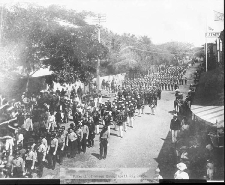 Funeral Procession of Queen Emma of Hawaii