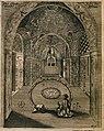 Funerary chamber of Shah Safi at his mausoleum at Qom, Iran.jpg