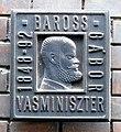 Gábor Baross plaque Budapest07.jpg