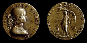Medal - Bronze medal of Isabella d'Este, princess and patron of Renaissance humanists, distributed as a gift.