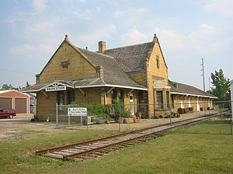 Princeton, Minnesota - The Great Northern Depot served Princeton on the Great Northern Railway until 1976.
