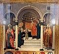 Gabella 42, guidoccio cozzarelli, presentazione di maria al tempio tra i santi girolamo e nicola di bari, 1484, 02.jpg