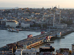 The current Galata Bridge