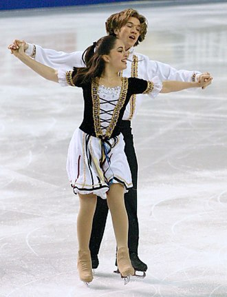Miss Massachusetts - Loren Galler-Rabinowitz, Miss Massachusetts 2010, competes in ice dancing at the 2004 Four Continents Championships