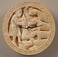 Game Piece with Hercules Throwing Diomedes to His Man-Eating Horses MET sf16-106s1.jpg
