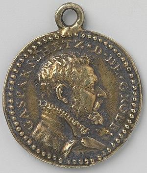 Gaspard II Schetz - Silver medal with a portrait of Gaspar Schetz, from the Rijksmuseum, Amsterdam