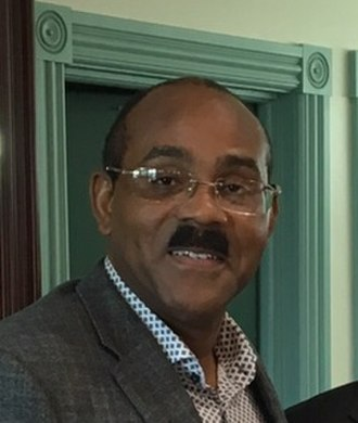 Prime Minister of Antigua and Barbuda - Image: Gaston Browne and Anton Bakov cropped
