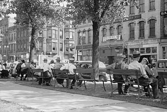 Minneapolis - The Gateway District in 1939 before it was torn down
