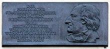 Gedenktafel am Palais Donner (Quelle: Wikimedia)