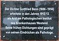 Gedenktafel Spandauer Damm 130 (Westend) Gottfried Benn.jpg