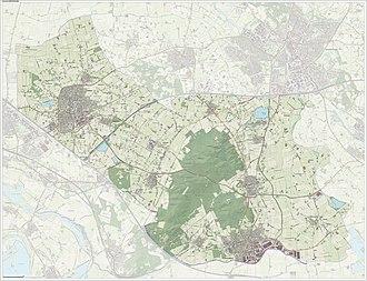 Montferland - Dutch Topographic map of Montferland, June 2015