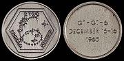 Gemini 6A Flown Silver-Colored Fliteline Medallion